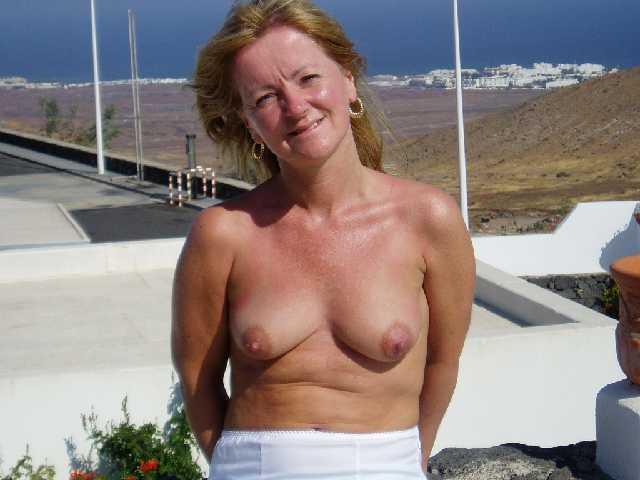 Topless MILF